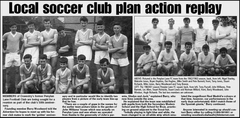 NP-Sport- 10 - Penylan Lane Team 1961-1963
