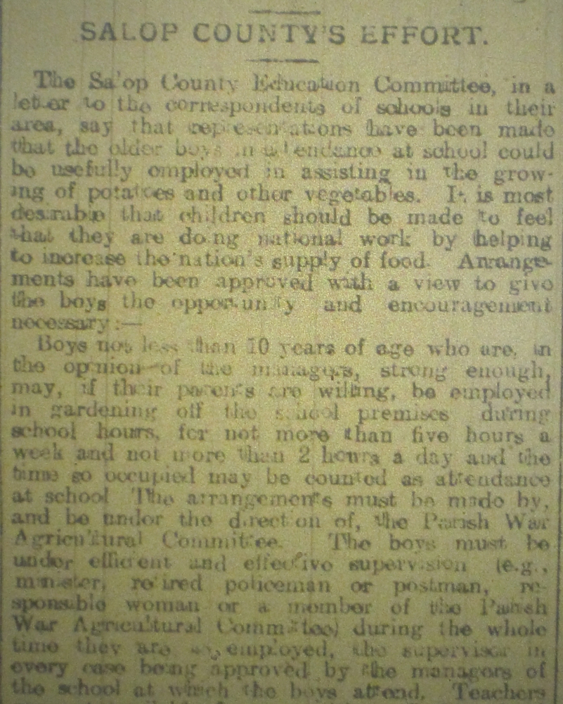 NP-WW1- Children Growing Veg March 1917-1