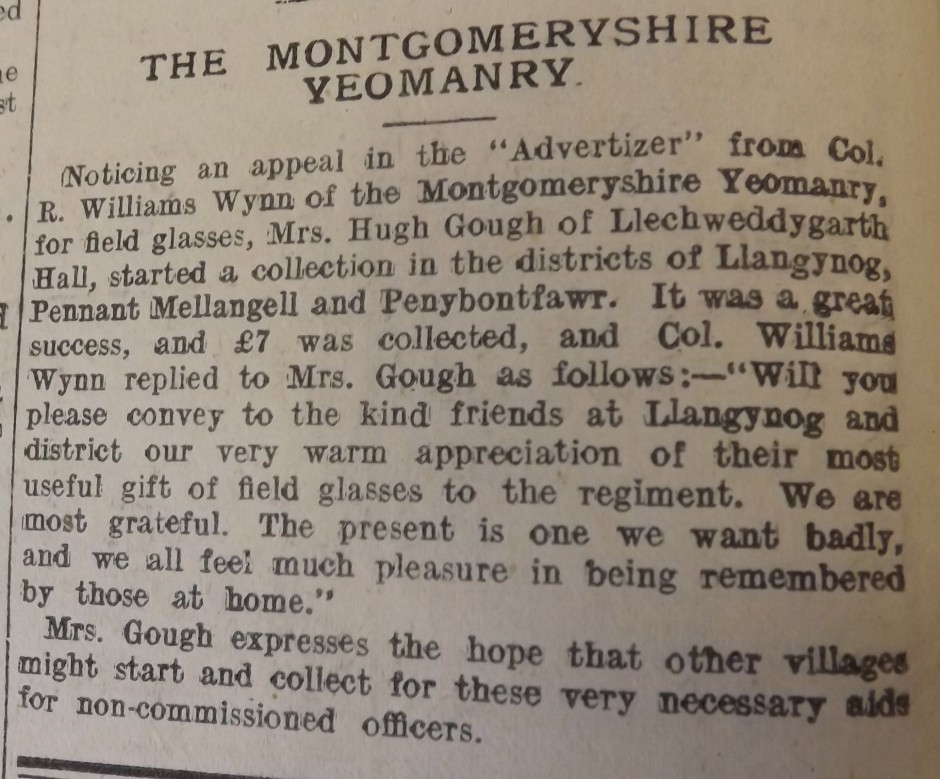 NP-WW1- Collecting Field Glasses - Sep 1914