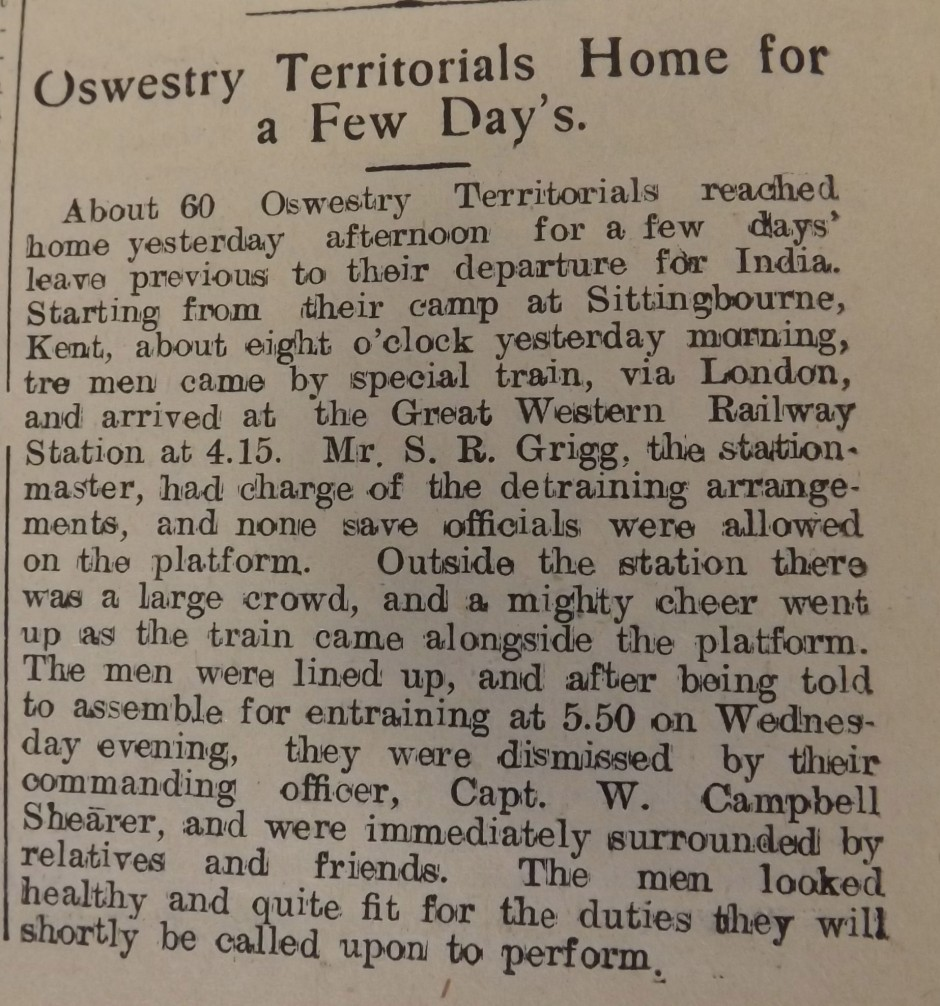 NP-WW1- OswTerr on Leave - Oct 1914