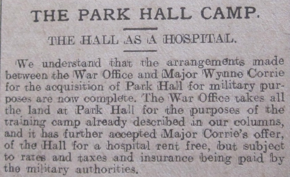 NP-WW1- Park Hall Nov 1914