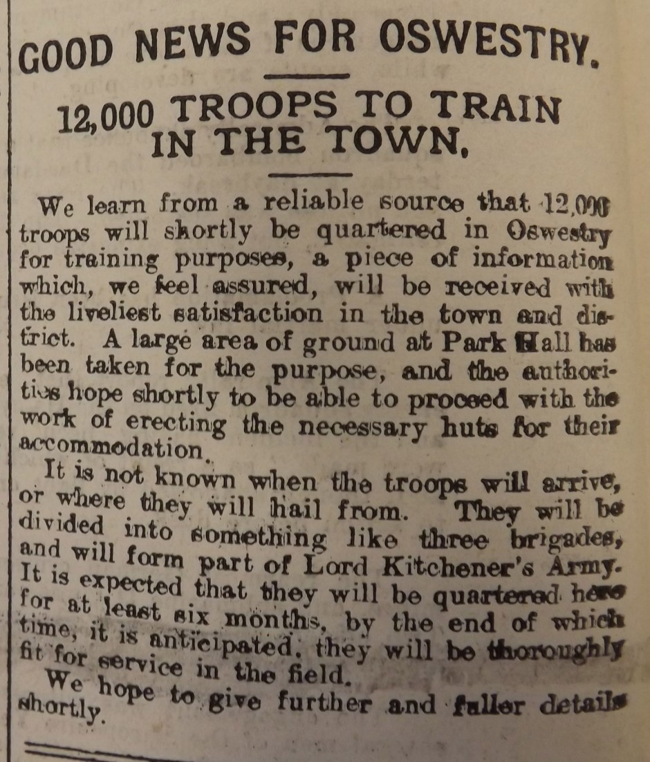 NP-WW1- Troops for Osw1 - Nov 1914