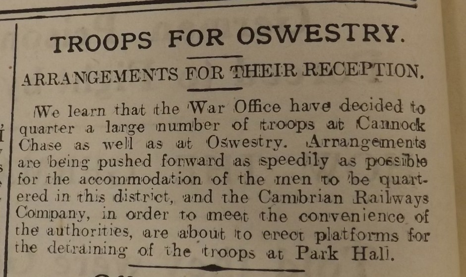 NP-WW1- Troops for Osw2- Nov 1914