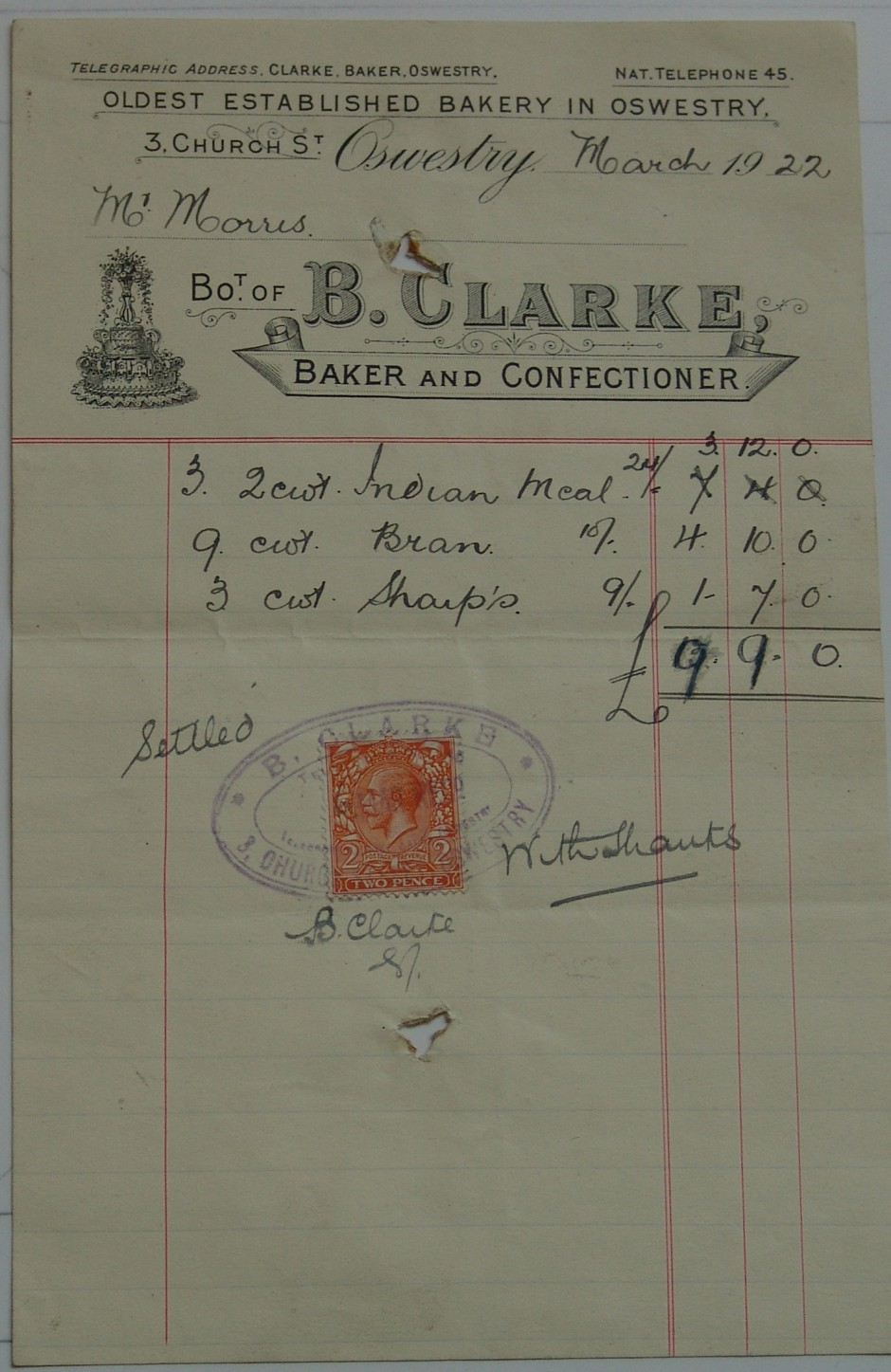 PH-O-5-6-142 - B Clarke - Baker