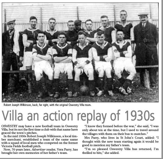 NP-Sport- 12 - Oswestry Villa Team c1930