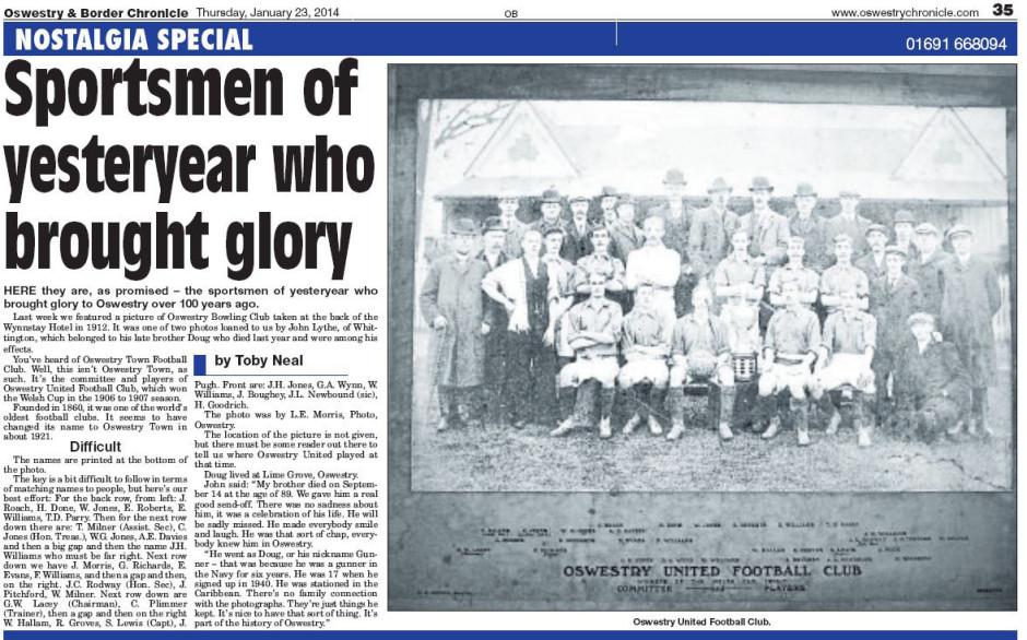 NP-Sport- 14 - Oswestry United Football Club pre 1921