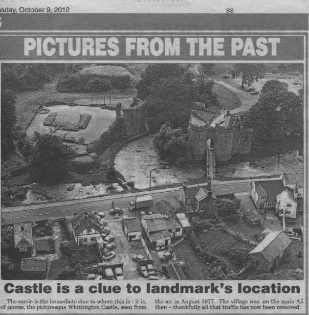 NP-W-20-25 - Aerial View of Whittington Castle 1977