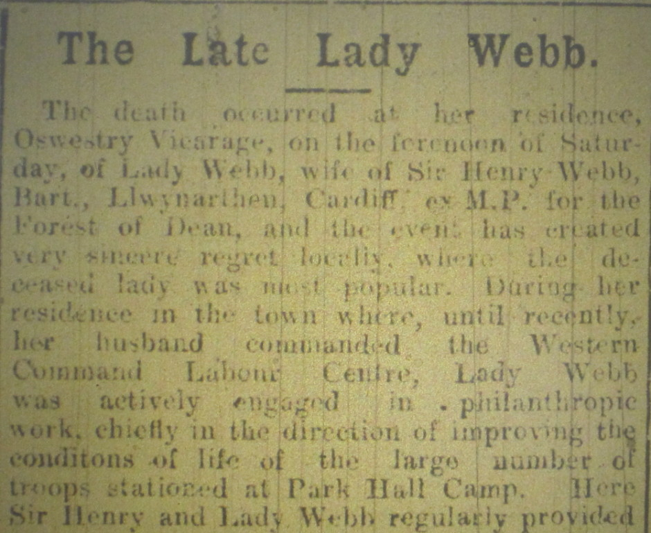 NP-WW1- Lady Webb 1919 - 1