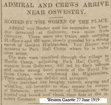 OSW-Henlle-PoW arrive 27 June 1919