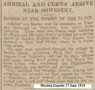OSW-Henlle-PoW arrive 27 June 1919