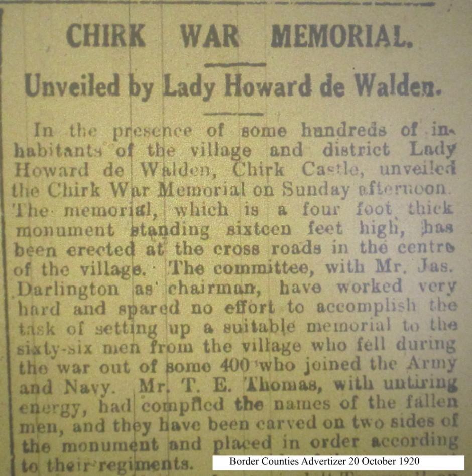 OSW-WM-Chirk  Oct 20 1920 - 1