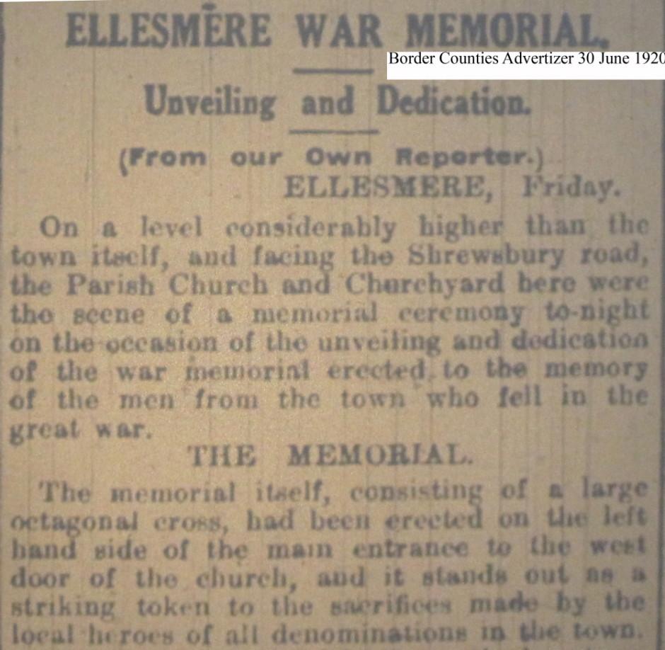 OSW-WM-Ellesmere June 30 1920 - 1