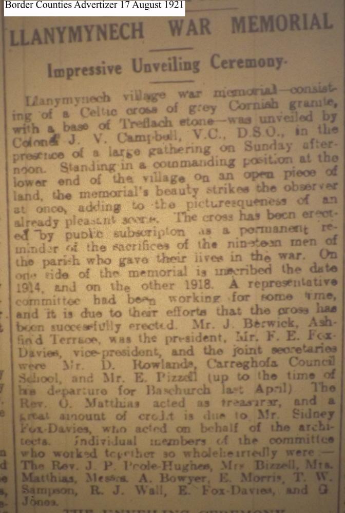 OSW-WM-Llanymynech Aug 17 1921 - 1