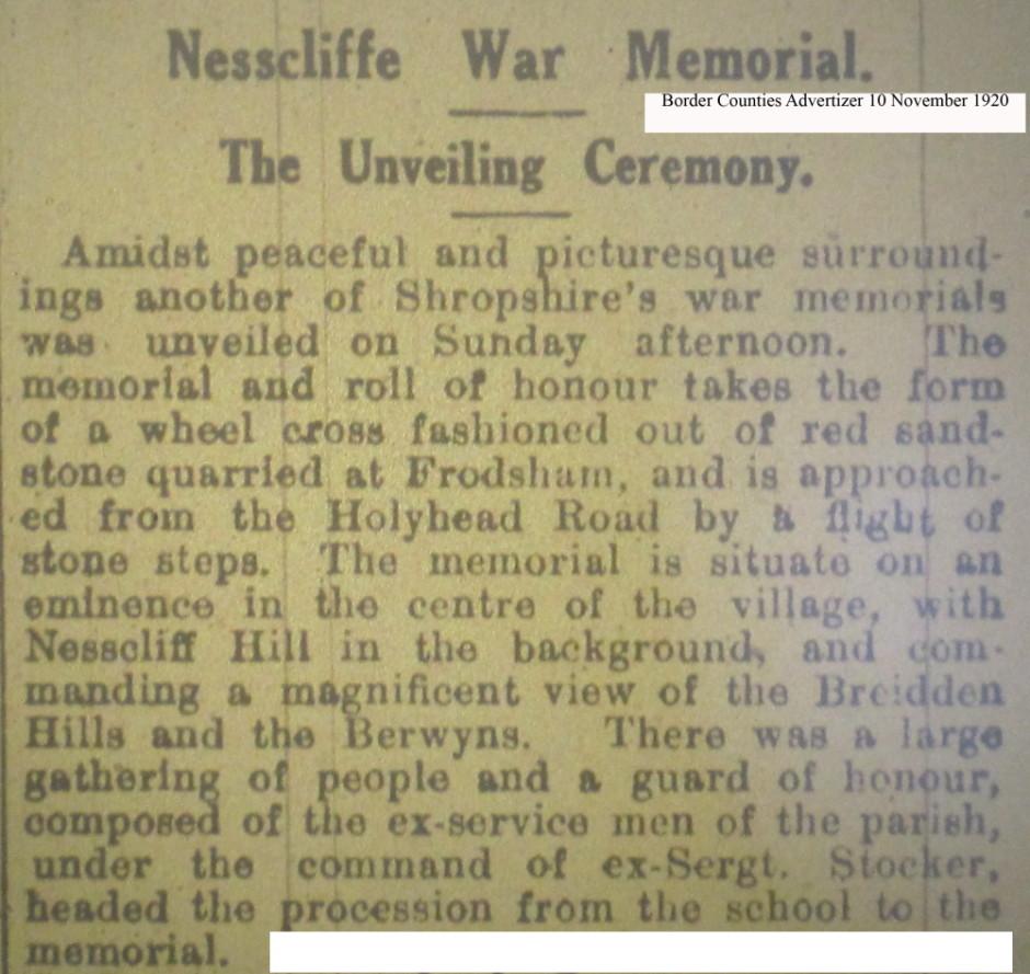 OSW-WM-Nescliffe  Nov 10 1920 - 1