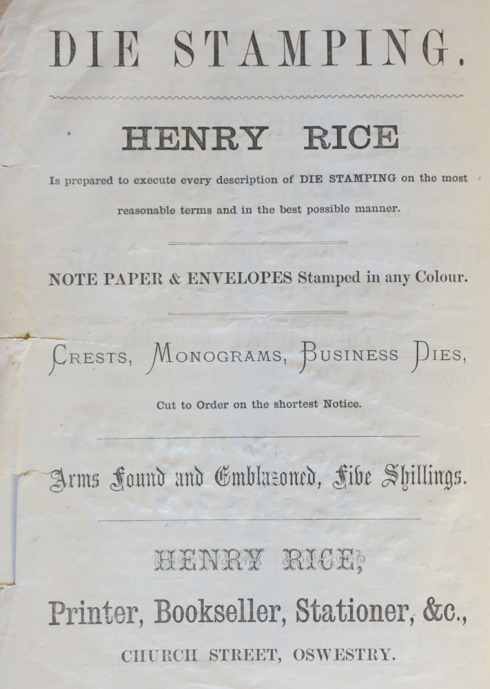 NP-O-5-6-160 - Henry Rice Advert 1873