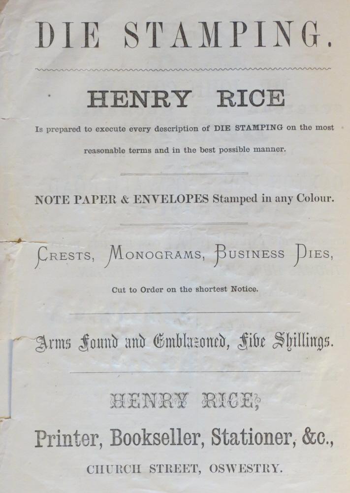 NP-O-5-6-160 - Henry Rice Advert 1873
