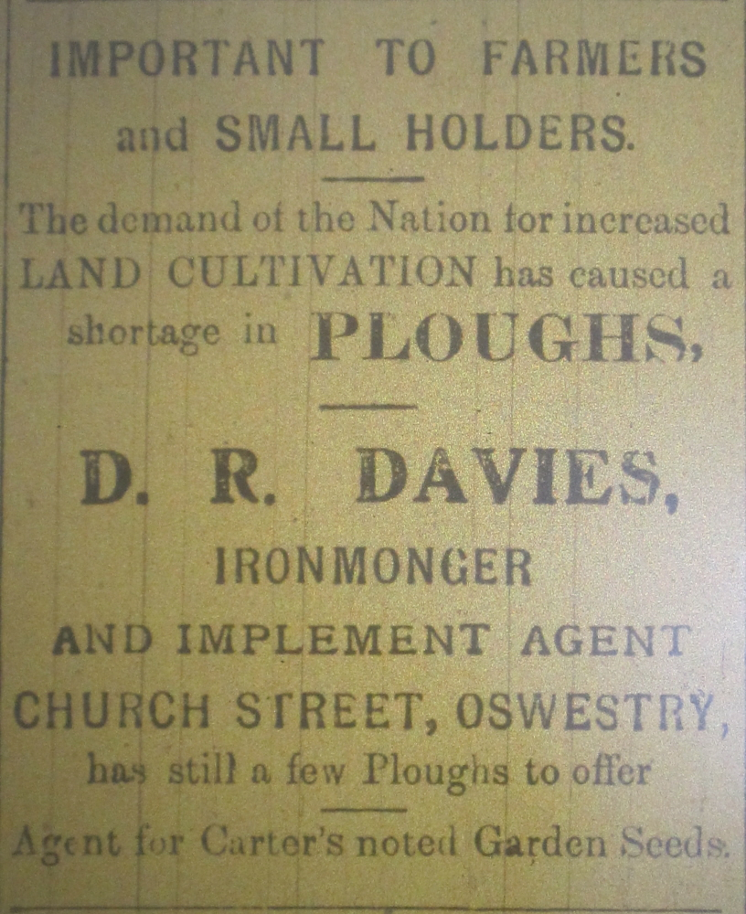 NP-O-5-6-167 - Davies Ironmonger WW1