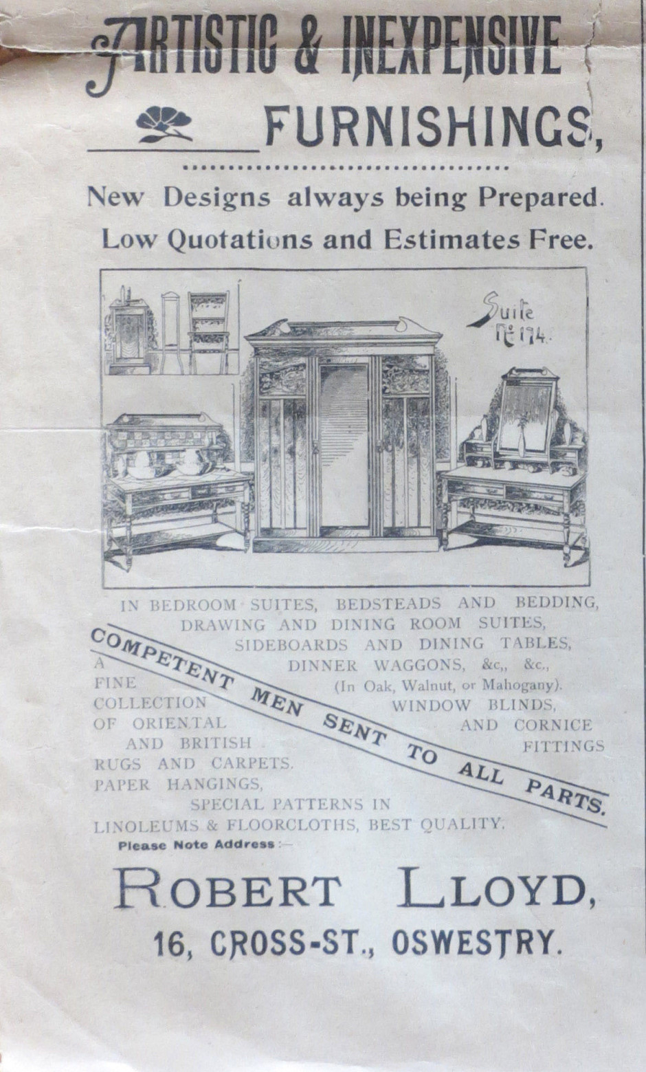 NP-O-5-7-48 - Robert Lloyd Advert 1899