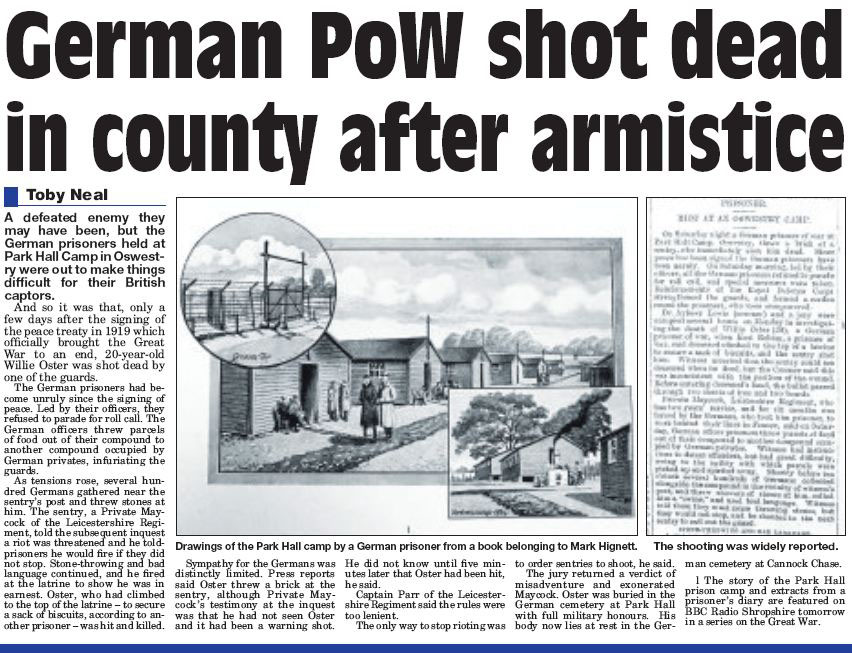 NP-P-30-31 - POW shot dead after 1919 armistice