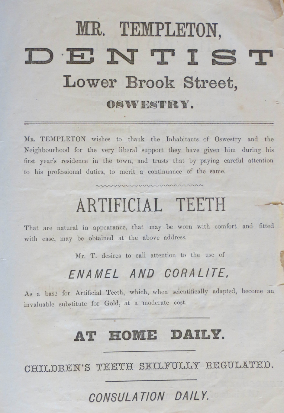 PH-O-5-26-3 - Templeton Dentist 1873