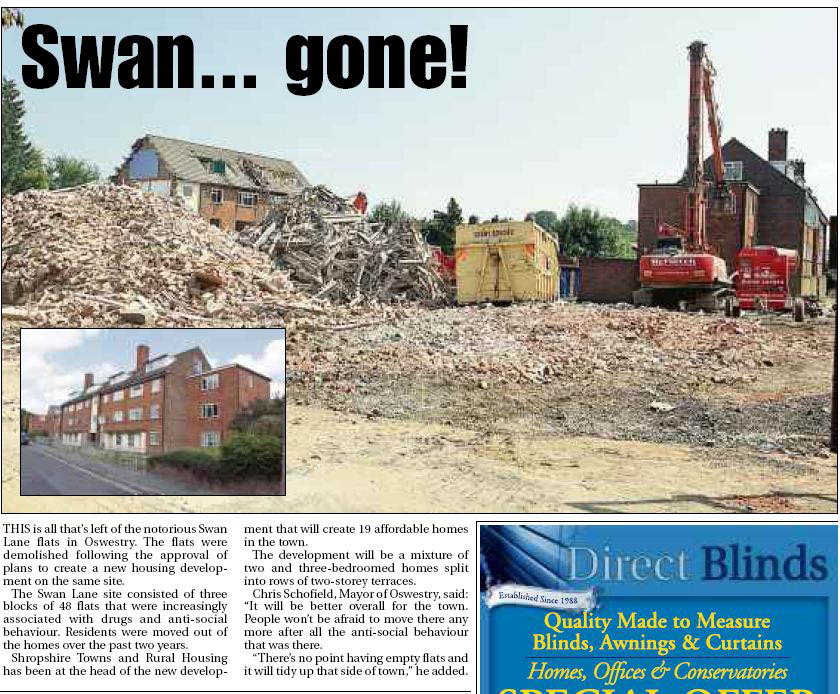 NP-O-5-105-1 - Swan Lane Flats Demolished 2013