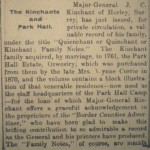 NP-P-2-9 - Kinchants of Park Hall 1917