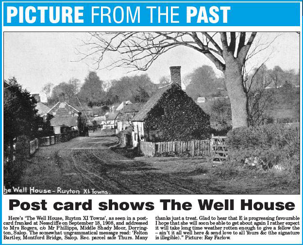 NP-R-13-23 - The Well House, Ruyton X1 Towns 1908