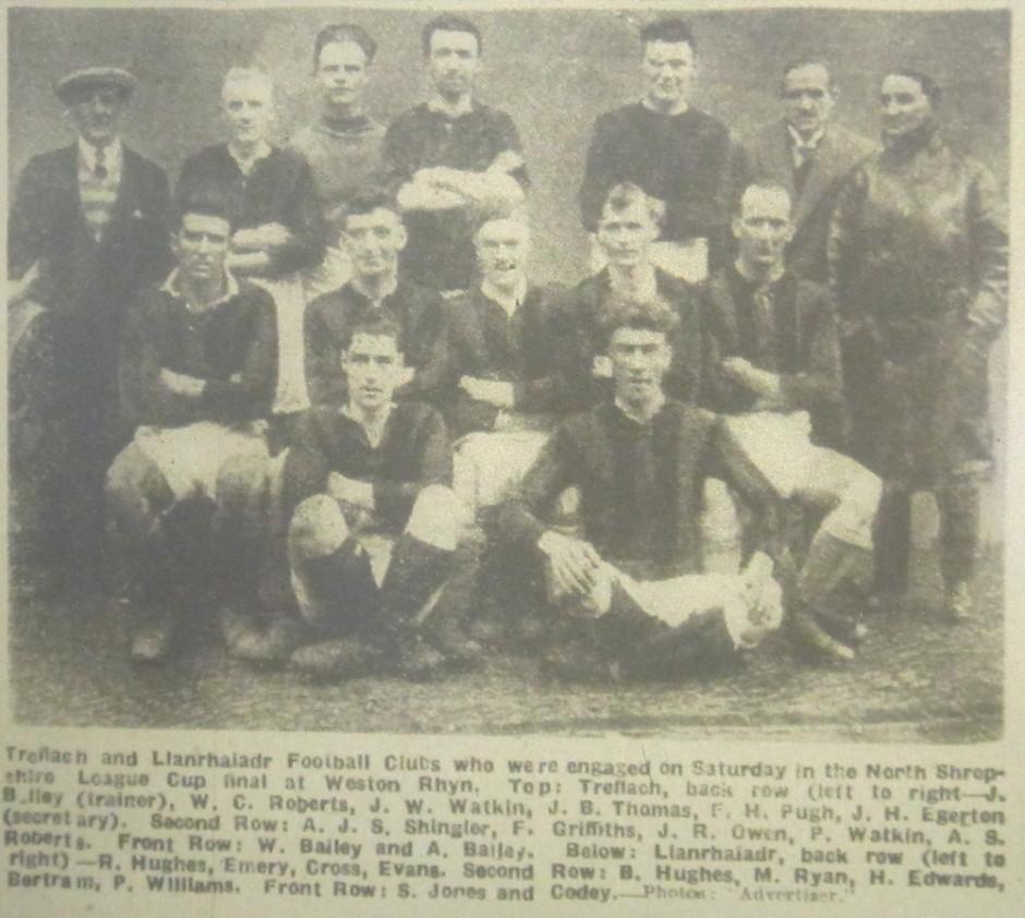 NP-Sport-20 - Llanrhaiadr  team v Treflach - April 1932