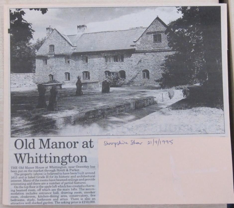NP-W-20-34 - Old Manor House Whittington