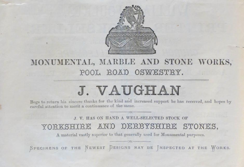 PH-O-5-97-1 - J Vaughan Monumental Marble 1873