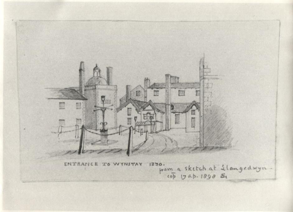 PH-R-112-6- Entrance to Wynnstay 1830