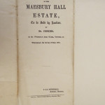 NM-M-3-17 - Maesbury Hall Estate Sale 1861