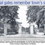 NP-O-5-6-181 - Park Memorial Gates 1921