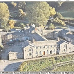 NP-L-39-21 - Aerial View of Llanfyllin Workhouse